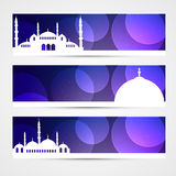 Set of islamic headers Royalty Free Stock Images