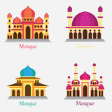 Set of Islamic Mosque / Masjid for Muslim pray icon Royalty Free Stock Images