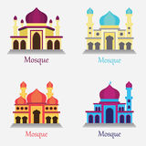 Set of Islamic Mosque / Masjid for Muslim pray icon Royalty Free Stock Photos