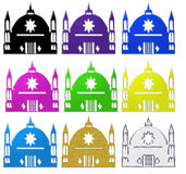 Set of Islamic mosques Stock Image