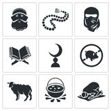Set of Islamic Vector Icons Royalty Free Stock Photography