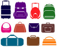 Set with isolated bag Stock Images