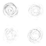 Set of isolated black whirl circles Stock Image