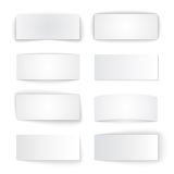 Set of isolated blank paper banners with Stock Photography