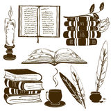 Set of isolated book icons Stock Images