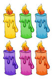 Set of isolated candles Stock Images