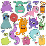 Set Of Isolated Cartoon Monsters. Stock Photos
