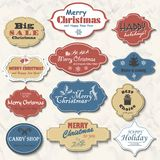 Set of isolated Christmas frames and labels. Vector illustration-2 Royalty Free Stock Photography