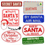 Set of isolated Christmas stamps and labels vector illustration