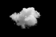 Set of isolated clouds over black. Royalty Free Stock Photography