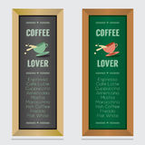 Set Of Isolated Coffee Menu Board Stock Photography