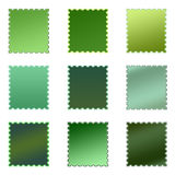 Set of Isolated Colored Stamps Stock Images