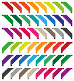 Set of isolated colorful ribbons. Large set of isolated colorful ribbons Stock Image