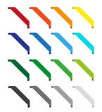 Set of isolated colorful ribbons. Round corners Royalty Free Stock Images