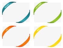 Set of 4 isolated colorful rubber styled bands for corners Royalty Free Stock Photography