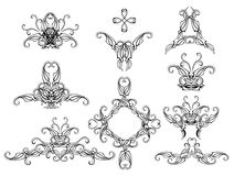 Set of filigree patterns Stock Photo