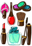 Set of isolated cosmetics icons Royalty Free Stock Photography