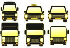 Set delivery transport Stock Image