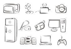 Set of isolated electric goods part 2. Set of isolated electric goods home related. icons part2 vector illustration