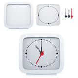 Set of isolated elements to create a desk clock. 3d illustration Stock Photos