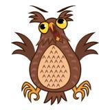 Set isolated Emoji character cartoon joy owl. Vector Illustrations Royalty Free Stock Photography