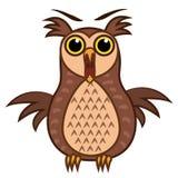 Set isolated Emoji character cartoon joy owl. Vector Illustrations Stock Photography