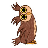 Set isolated Emoji character cartoon owl asks the question. Vector Illustrations Royalty Free Stock Photography