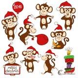 Set Of Isolated Funny Monkey Icons. Stock Image