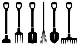 Set isolated garden tools Stock Images