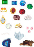 Set of isolated gems Stock Image