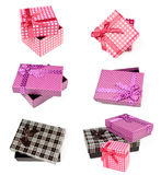 Set of isolated gift boxes Stock Photo