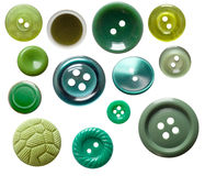 Set of isolated green buttons Stock Photos