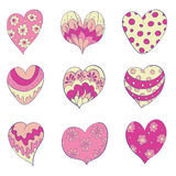 Set of isolated  hearts Royalty Free Stock Photography