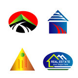 Set isolated house logo real estate sign Stock Photo