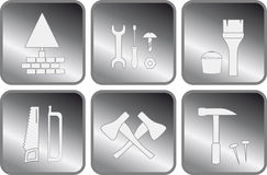 Set isolated icon with tools Stock Photo