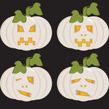 A set of isolated icons of unusual white pumpkins Royalty Free Stock Photos