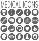 Set isolated medical round icons vector illustration