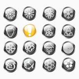 Set Of Isolated Metallic Shiny Round Buttons Royalty Free Stock Image