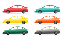 Set of isolated modern colorful car Stock Image