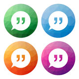 Set  of 4 isolated modern low polygonal buttons - icons - for sp Stock Photos