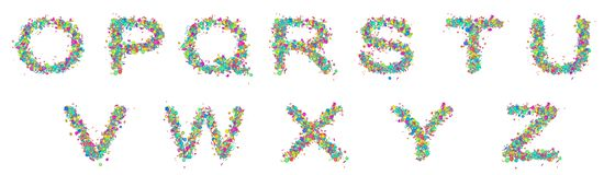 Set of isolated multicolored fun letters royalty free stock photo