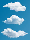 Set of isolated picturesque clouds Stock Image