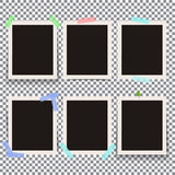 Set of isolated realistic empty vector photo frames. Template  Stock Photography