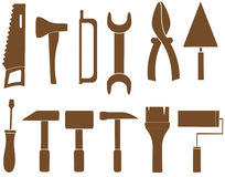Set isolated repair tools Stock Photography