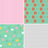 Set of isolated seamless pattern baby abstract Stock Photo