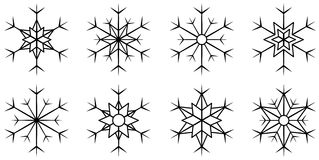 Set isolated snowflake Stock Image