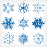 Set of isolated snowflakes for Christmas decor Royalty Free Stock Photo