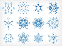 Set of isolated snowflakes for Christmas decor Stock Photo
