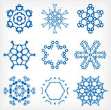 Set of isolated snowflakes for Christmas decor Royalty Free Stock Image