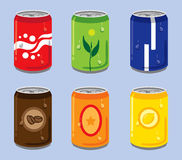 Soft drink can royalty free illustration